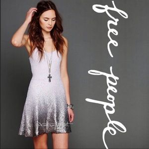 Free People Foil Ombré Fit and Flare Dress